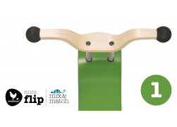Wishbone mini-flip top green