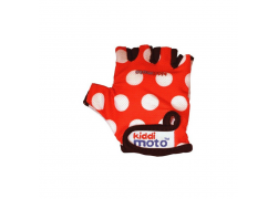 Handschoenen Kiddimoto Red Dotty Medium