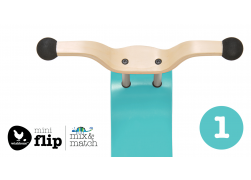 Wishbone mini-flip top aqua